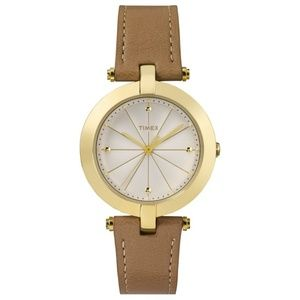 Timex TW2P79500 Women's Brown Leather Band Watch